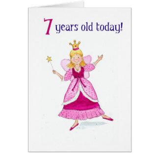Fairy Princess 7th Birthday Card
