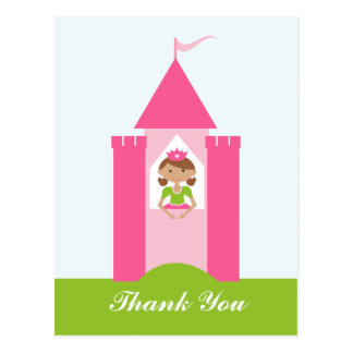 Fairy princess castle thank you postcard