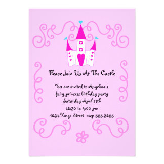 fairy princess invite