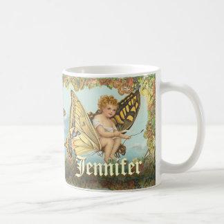 Fairy Princess Riding a Butterfly Coffee Mug
