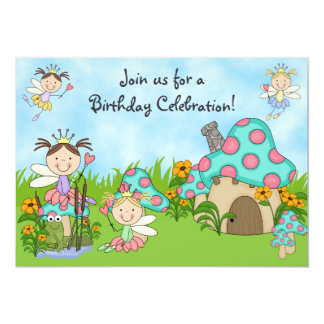 Fairy Princesses and Garden Birthday Invitation