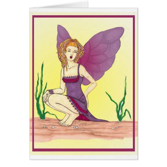 fairy purple dress card
