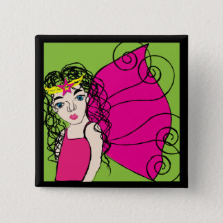 Fairy Queen 15 Cm Square Badge
