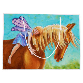Fairy Rider , Horse Large Gift Bag
