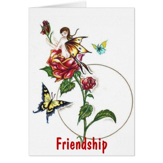 Fairy Rose!  Friendship Card