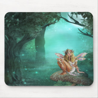 Fairy Sitting on a Mushroom Patch Mousepad