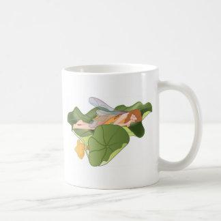 Fairy Sleeping on Lotus Leaves Coffee Mug