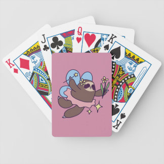 Fairy Sloth Bicycle Playing Cards