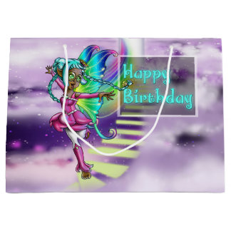 Fairy Sparkle Birthday Gift Bag - Large, Glossy