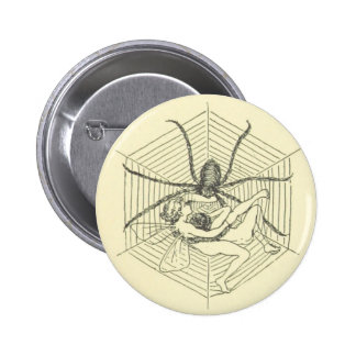 Fairy Stuck in Spider Web 6 Cm Round Badge