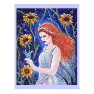 Fairy sunflower postcard By Renee L.Lavoie