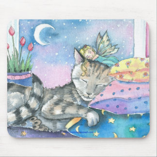 Fairy Tabby Cat Mousepad by Molly Harrison