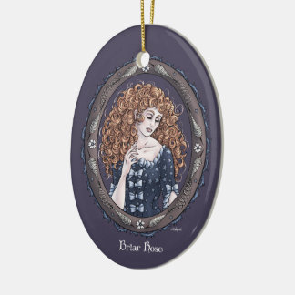 "Fairy Tale ""Briar Rose"" Fantasy Art Ornament #1"