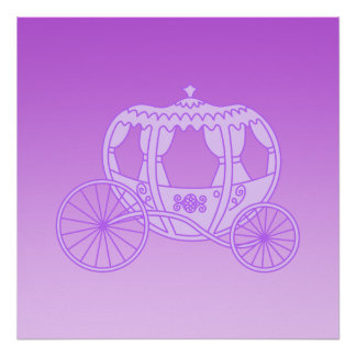 Fairy Tale Carriage in Purple Posters