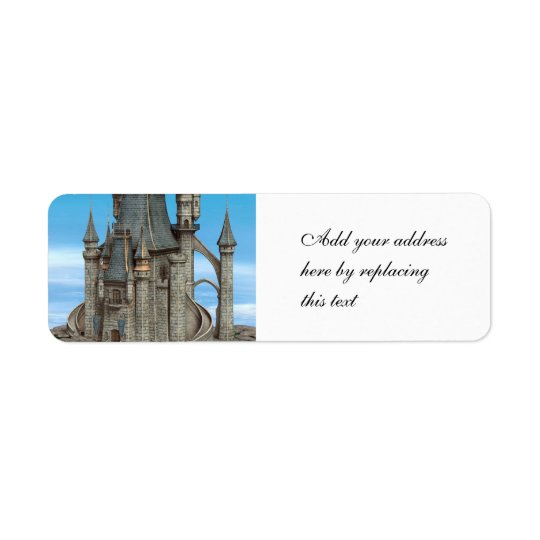 Fairy Tale Castle Return Address Label