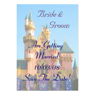 Fairy Tale Castle Save the Date Card Pack Of Chubby Business Cards