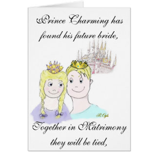 Fairy Tale Engagement Announcement Card
