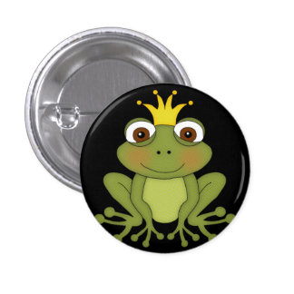 Fairy Tale Frog Prince with Crown 3 Cm Round Badge