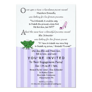 Fairy Tale Fun Engagement Party 5x7 Invitation