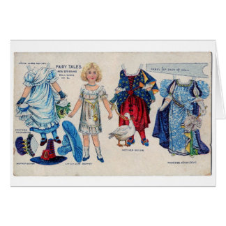 Fairy Tale Girl Paper Doll Card