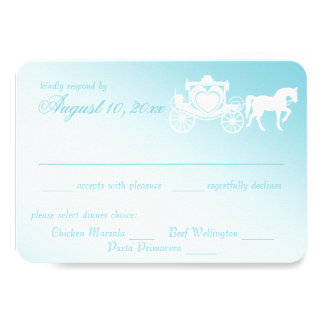 Fairy Tale Horse and Carriage Wedding Card