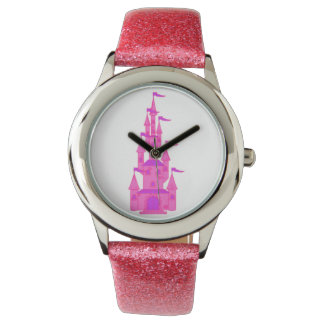 Fairy Tale Hot Pink Princess Castle Watch