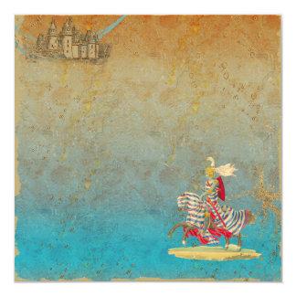 Fairy Tale Knight & Castle Invitation Card