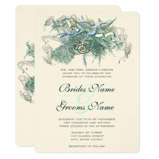 Fairy Tale Peacock Wedding Invitations