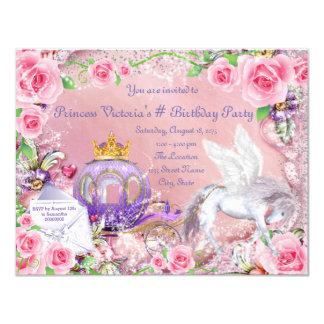 Fairy Tale Princess Birthday Party Card