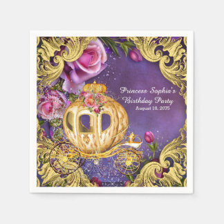 Fairy Tale Princess Birthday Party Disposable Serviettes