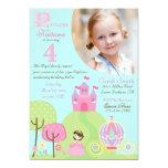 "Fairy Tale Princess Fourth Birthday Invitation 5"" X 7"" Invitation Card"