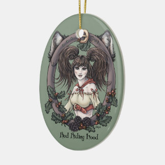 "Fairy Tale ""Red Riding Hood"" Fantasy Ornament #1"