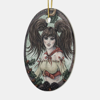 """Fairy Tale """"Red Riding Hood"""" Fantasy Ornament #2"""