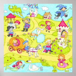Fairy tale scene posters