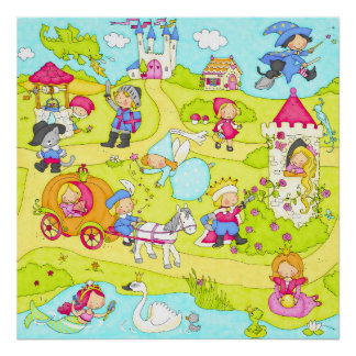 Fairy tale scene poster