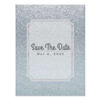 Fairy Tale Sparkle Glitter Party Save the Date Postcard