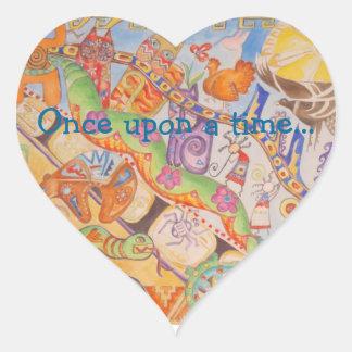 Fairy Tale Story Heart Sticker