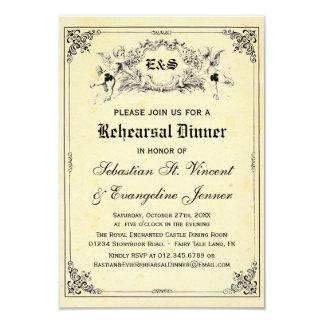 Fairy Tale Storybook Wedding Rehearsal Dinner Card