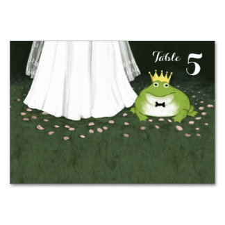 Fairy Tale Wedding Frog Prince Table Card