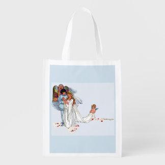 fairy tale wedding reusable grocery bag