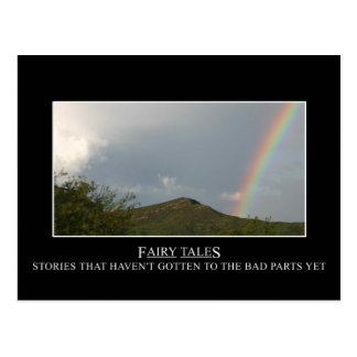 Fairy tales don't really have happy endings postcard