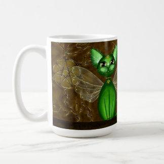 Fairy Temple, Fantasy Fairy Kitty Coffee Muff Basic White Mug