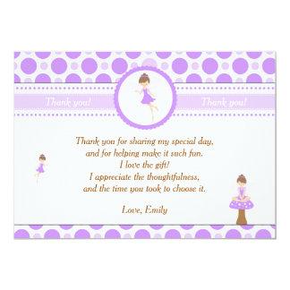 Fairy Thank You Card Purple Pixie 13 Cm X 18 Cm Invitation Card