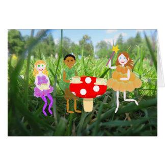Fairy Toadstool Picnic Card