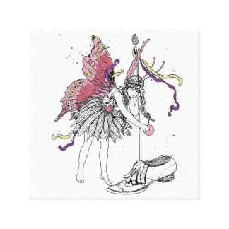 Fairy Treat In Shoe Gallery Wrapped Canvas