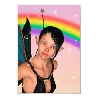 Fairy under Rainbow Photographic Print