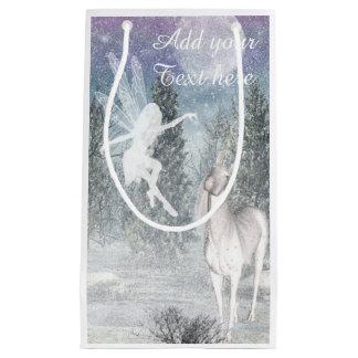 Fairy unicorn winter play gift bag