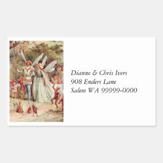 Fairy Wedding Rectangular Sticker