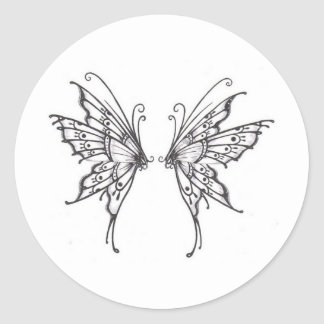Fairy WINGS Classic Round Sticker