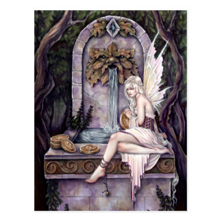 Fairy Wishing Well Postcard